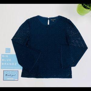 •LACE SHIRT BLUE